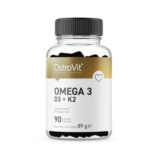 Dầu cá OstroVit Omega 3 Vitamin D3, E, K2 (1000mg dầu cá)